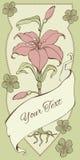 Kaart met Lily Template Stock Fotografie