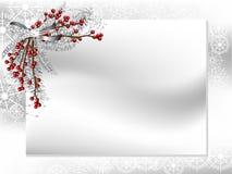 Kaart met lint Royalty-vrije Stock Foto
