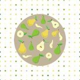 Kaart met peren Stock Afbeelding
