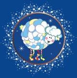 Kaart met schapen Stock Afbeelding