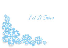 Kaart met sneeuwvlokken en tekst Royalty-vrije Stock Afbeeldingen