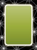 Kaart met spinnewebframe Stock Foto's