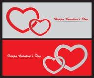 Kaart met St Valentine Dag Stock Foto's