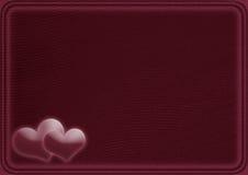 Kaart met twee harten Stock Afbeelding