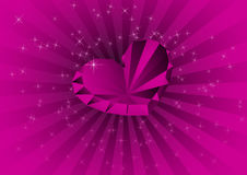 Kaart met violette diamant Royalty-vrije Stock Afbeeldingen
