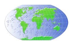 Kaart met waterdaling. Royalty-vrije Stock Foto's