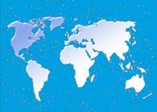 Kaart met waterdaling. Royalty-vrije Stock Afbeeldingen