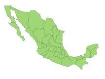 Kaart Mexico Stock Foto's