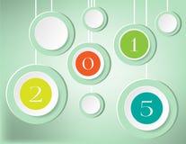 Kaart - Nieuwjaar Stock Fotografie