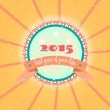 Kaart - Nieuwjaar 2015, grunge Stock Fotografie