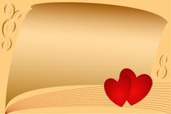 Kaart op datum van Valentijnskaart. Stock Afbeeldingen