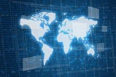 Kaart op digitale achtergrond Stock Fotografie