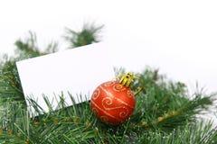 Kaart op Kerstmisboom Royalty-vrije Stock Fotografie