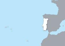 Kaart Portugal Royalty-vrije Stock Afbeeldingen