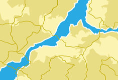 Kaart, Reis, Aardrijkskunde vector illustratie