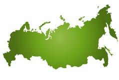 Kaart Rusland Royalty-vrije Stock Afbeelding