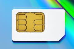 Kaart SIM Royalty-vrije Stock Foto's