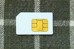 Kaart SIM Royalty-vrije Stock Foto