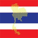 Kaart Thailand Stock Afbeeldingen