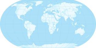 Kaart van aarde Stock Foto's