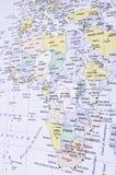 Kaart van Afrika Stock Afbeeldingen