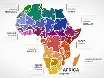 Kaart van Afrika Stock Afbeelding
