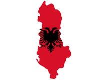 Kaart van Albanië royalty-vrije illustratie