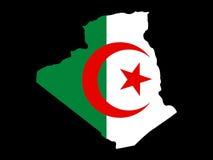 Kaart van Algerije vector illustratie