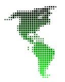 Kaart van Amerika Royalty-vrije Stock Foto's