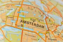 Kaart van Amsterdam Royalty-vrije Stock Foto's