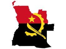 Kaart van Angola Stock Foto's