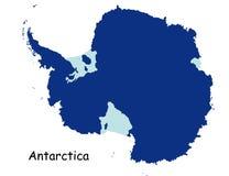 Kaart van Antarctica Royalty-vrije Stock Fotografie