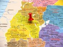 Kaart van Argentinië Stock Foto