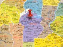 Kaart van Argentinië Stock Foto's
