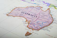 Kaart van Australië stock fotografie