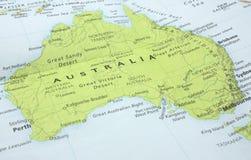 Kaart van Australië Stock Afbeelding
