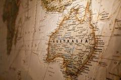 Kaart van Australië Stock Foto's