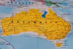 Kaart van Australië Stock Foto