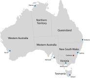 Kaart van Australië stock illustratie