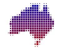 Kaart van Australië Royalty-vrije Stock Fotografie