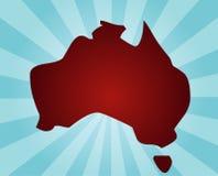 Kaart van Australië royalty-vrije illustratie