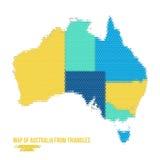 Kaart van Australië van Driehoeken Royalty-vrije Stock Foto's