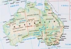 Kaart van Australië Stock Afbeeldingen