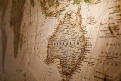Kaart van Australië Royalty-vrije Stock Afbeelding