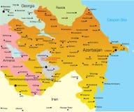 Kaart van Azerbaijan Stock Afbeeldingen