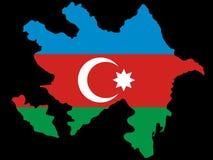 Kaart van Azerbaijan royalty-vrije illustratie
