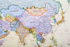Kaart van Azië stock afbeelding
