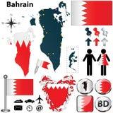 Kaart van Bahrein Stock Afbeeldingen