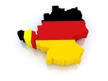 Kaart van België en Duitsland. royalty-vrije illustratie