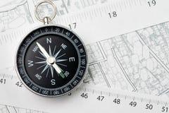 Kaart van bezit of onroerende goederenplaats, richting, navigatie a royalty-vrije stock afbeeldingen